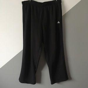 Adidas 2XL Sweat Pants Black Out 3 Stripes